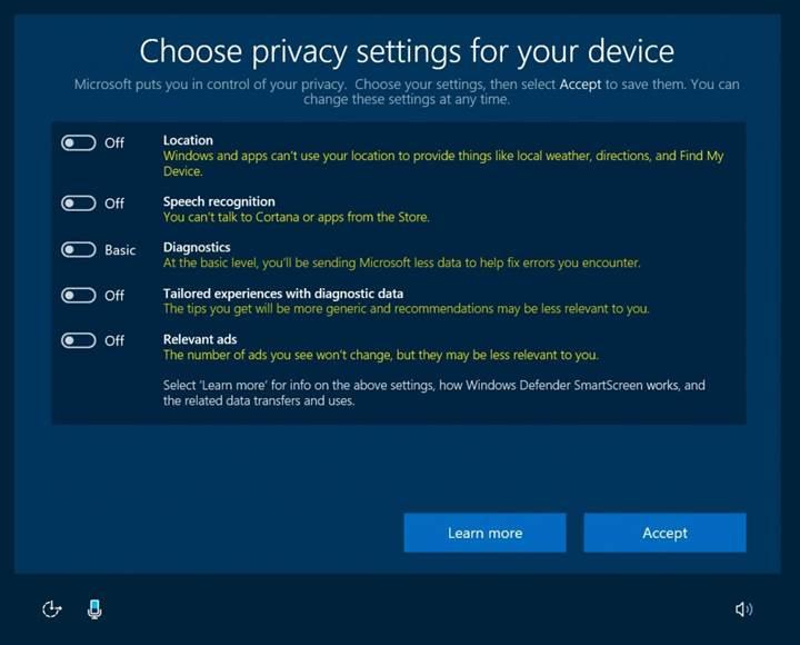 Microsoft, Windows 10 PC'lerden toplanan telemetri verilerini azaltıyor