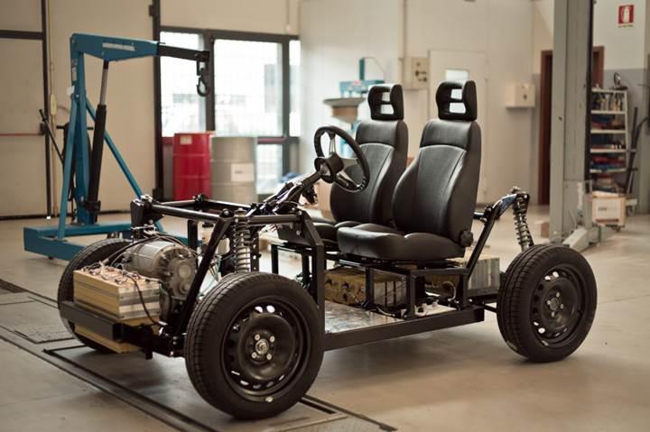 12 bin dolara ARGE'si yapılmış elektrikli araç platformu