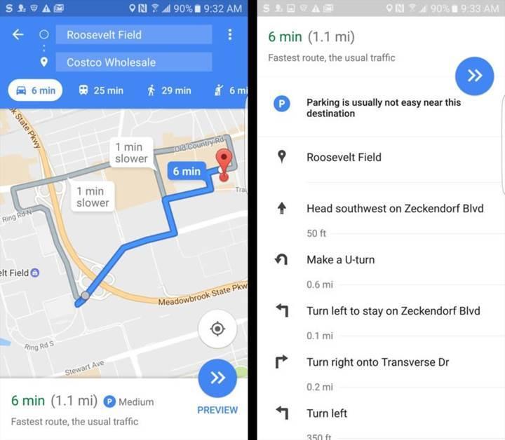 Google Haritalar artık uygun park yerlerini gösterecek