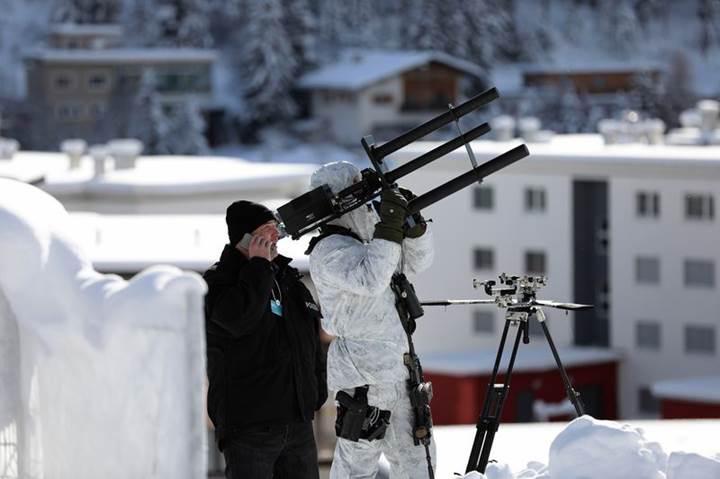 Anti-drone silahları Davos'ta kuş uçurmadı