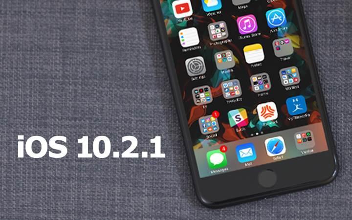 iOS 10.2.1 indirmeye sunuldu