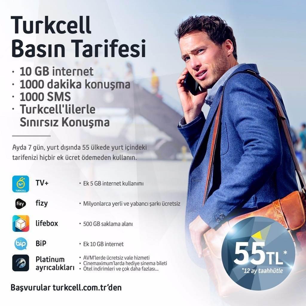 Turkcell'den yurtdışında geçerli basın tarifesi