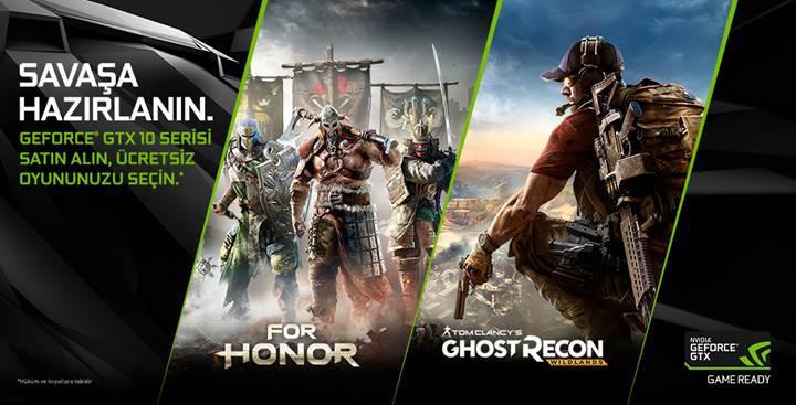 NVIDIA GeForce GTX 1080 ve 1070 ile For Honor veya Ghost Recon Wildlands hediye!