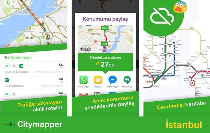 Popüler ulaşım uygulaması Citymapper artık Türkiye'de