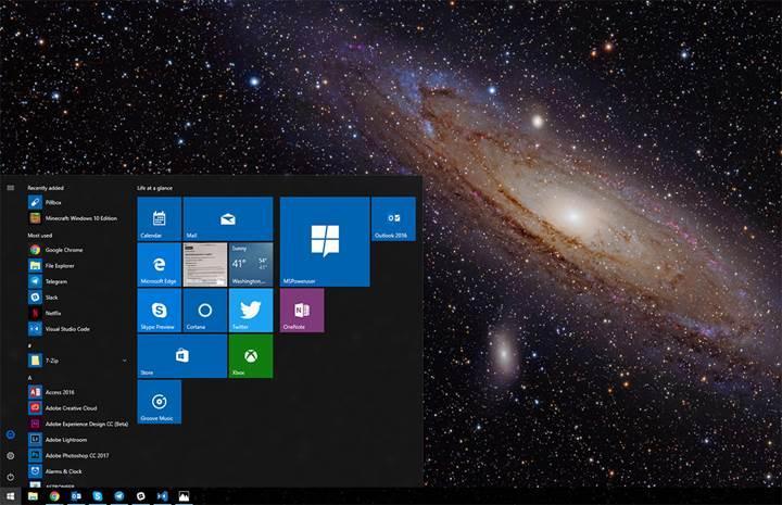 Microsoft, Windows 10'un yeni uyarlanabilir arayüzü Andromeda üzerinde çalışıyor