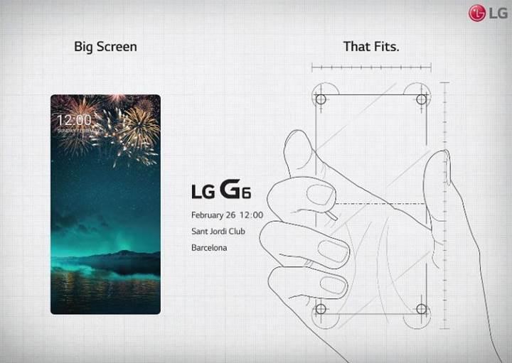 LG G6'nın basın davetiyesi büyük ekran ve ince bir çerçeveye işaret ediyor