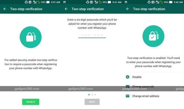 WhatsApp iki aşamalı doğrulama sistemine geçiyor