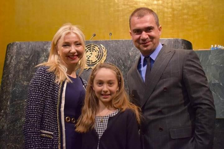 11 yaşındaki Türk Kızı Talya, BM Genel Kurulu'nda konuştu