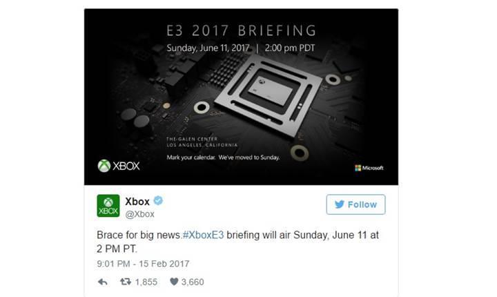 Microsoft, Xbox Project Scorpio'yu 11 Haziran'da tanıtabilir