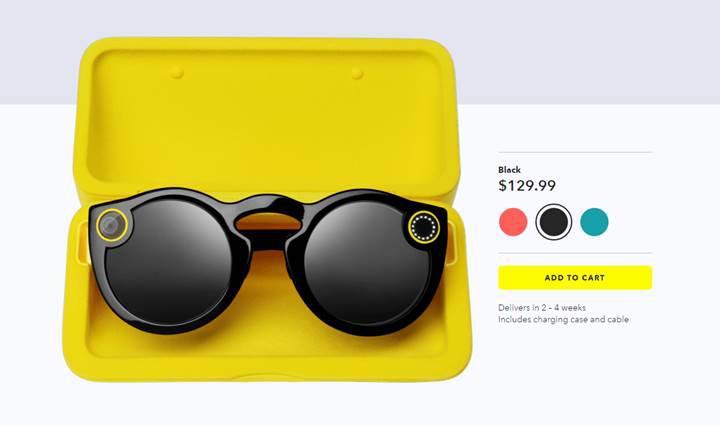 Snapchat, Spectacles güneş gözlüklerini internet üzerinden satışa çıkardı