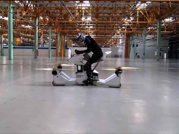 Dünyanın ilk insan kontrollü Hoverbike'ı tanıtıldı