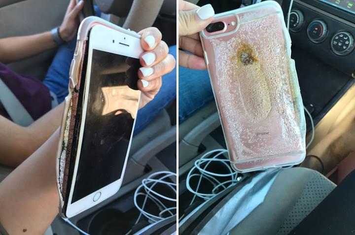 Apple alev alıp patlayan iPhone 7 Plus olayını araştırıyor
