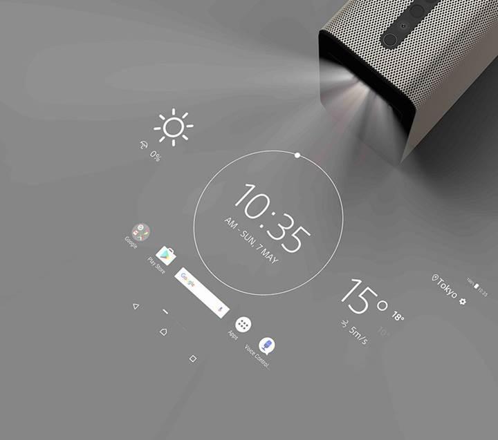 Sony, görüntü yansıttığı yüzeyi dokunmatik ekrana çeviren projektörünü tanıttı