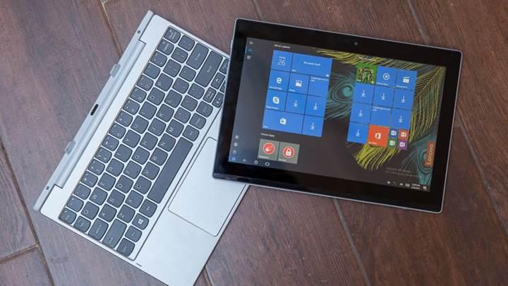 Lenovo'dan uygun fiyata melez Windows 10 tablet