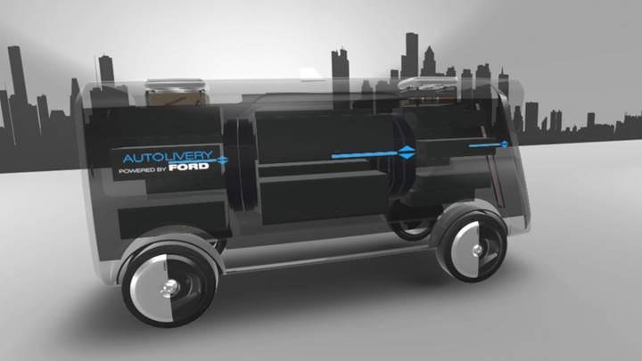 Ford'dan geleceğe yönelik otomatik teslimat sistemi