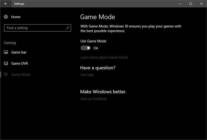 Microsoft nihayet Windows 10 Oyun Modu'nun nasıl çalışacağını açıkladı