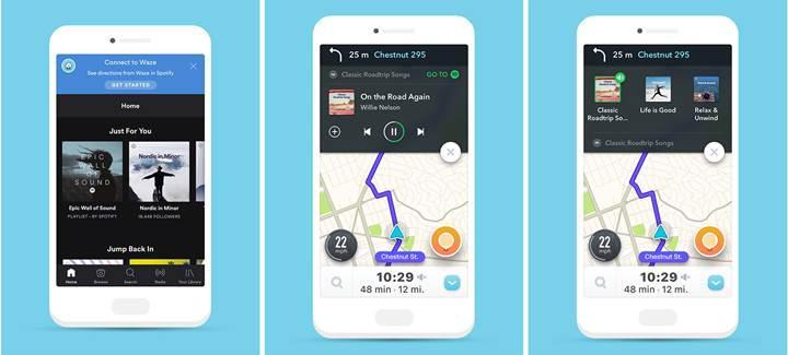 Waze ve Spotify güçlerini birleştirdi