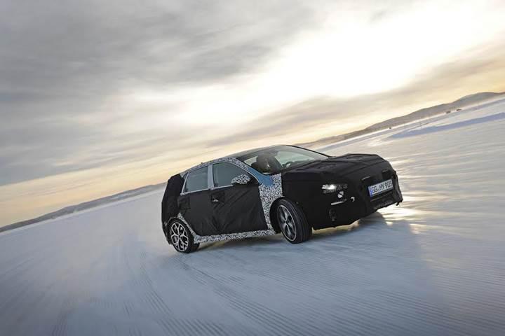 Hyundai'nin performans modeli i30 N zorlu kış testlerine başladı