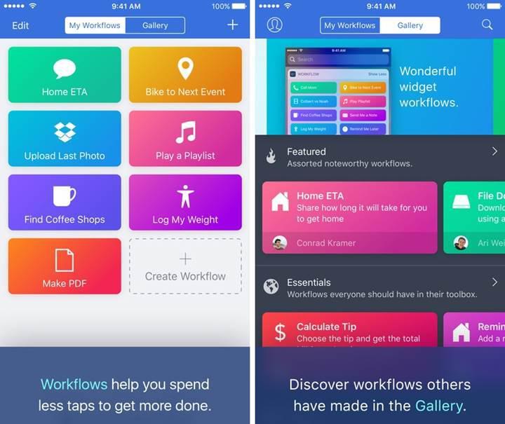 Apple, otomasyon uygulaması Workflow'u satın aldı