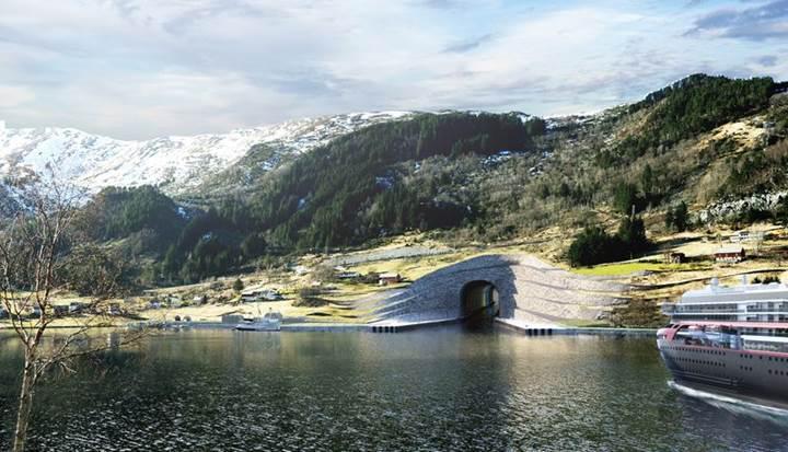 Norveç dünyanın ilk gemi tünelini inşa etmek için kolları sıvadı