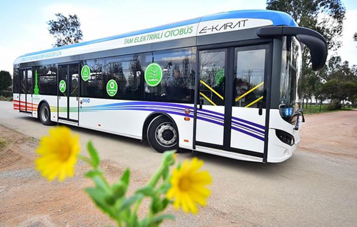 Türkiye'nin tamamen elektrikli ilk otobüs filosu İzmir'de hizmete giriyor