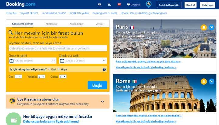 Booking.com: Türk müşteriler hizmetlerimizi kullanmaya devam edecek