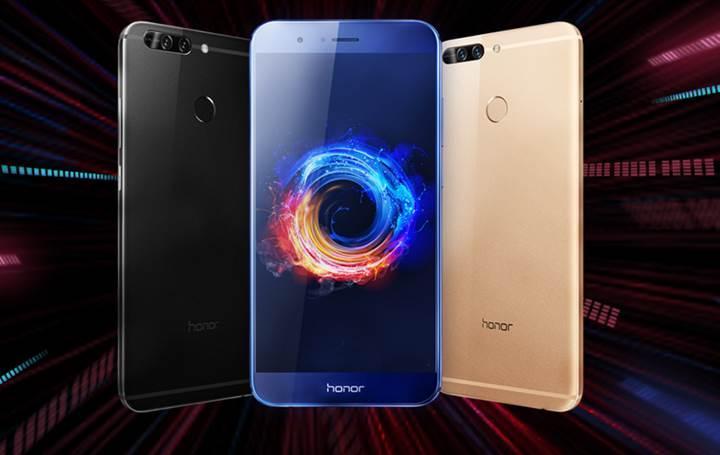 Çift kameralı Huawei Honor V9/8 Pro Avrupa kıyılarında