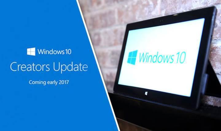 Windows 10 Creators Update güncellemesi başladı