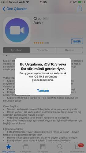 Apple'ın yeni uygulaması Clips bugün itibariyle indirilebilir oldu