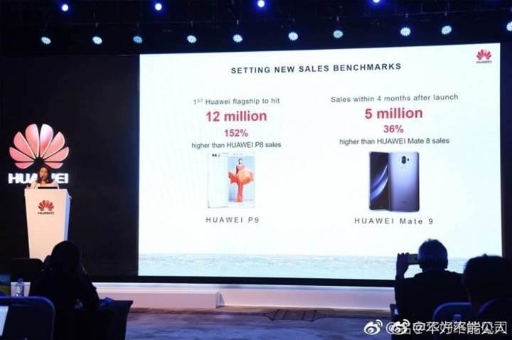 Mate 9'un satış rakamları Huawei'in yüzünü güldürüyor