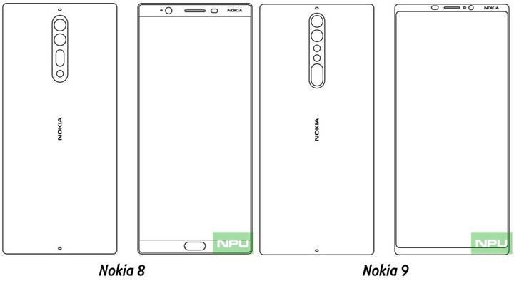 Nokia 8 ve Nokia 9'un tasarımları ortaya çıktı