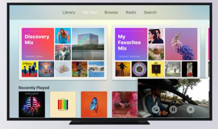 Apple TV, tvOS 11 ile yeni bir çehreye bürünecek