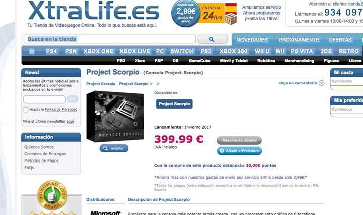 Xbox Project Scorpio'nun fiyatı sızdırıldı