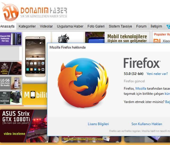 Firefox 53 yayınlandı: Tarayıcı artık daha az çökecek