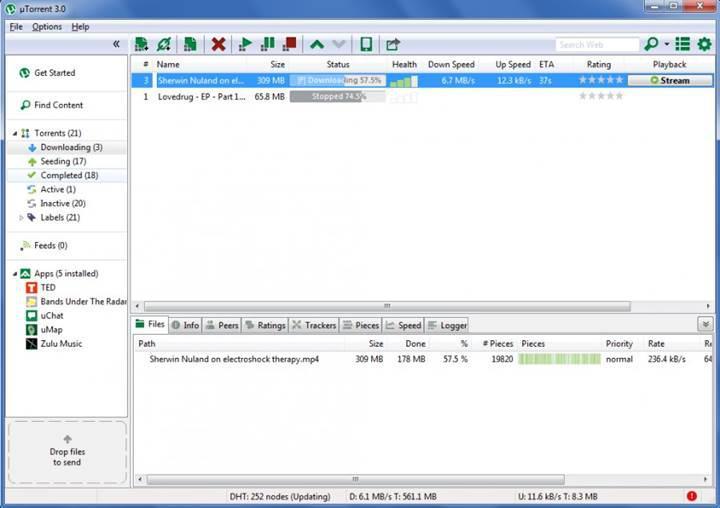 Yeni uTorrent web tarayıcısı üzerinden çalışacak