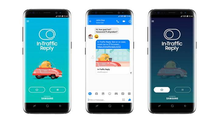Samsung, yeni otomatik yanıt uygulaması In-Traffic Reply'ı tanıttı
