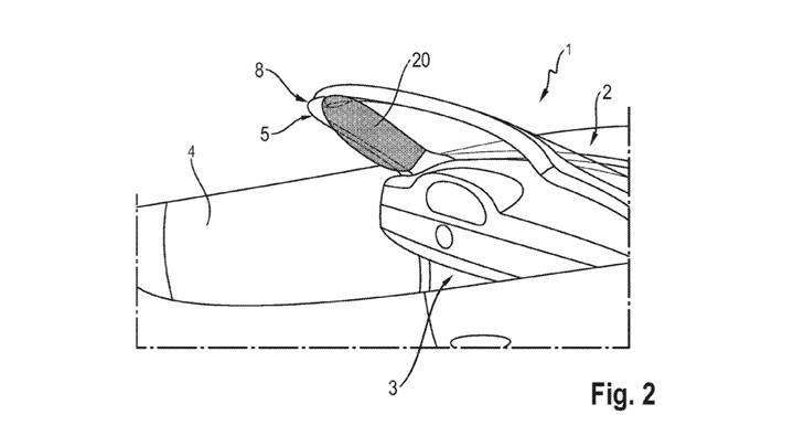 Porsche, A sütununda yer alan hava yastığının patentini aldı