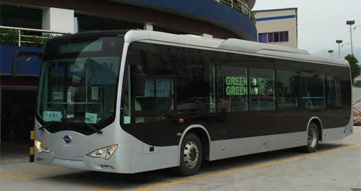BYD, Amerika'da 18 metrelik elektrikli otobüslerin teslimatına başladı