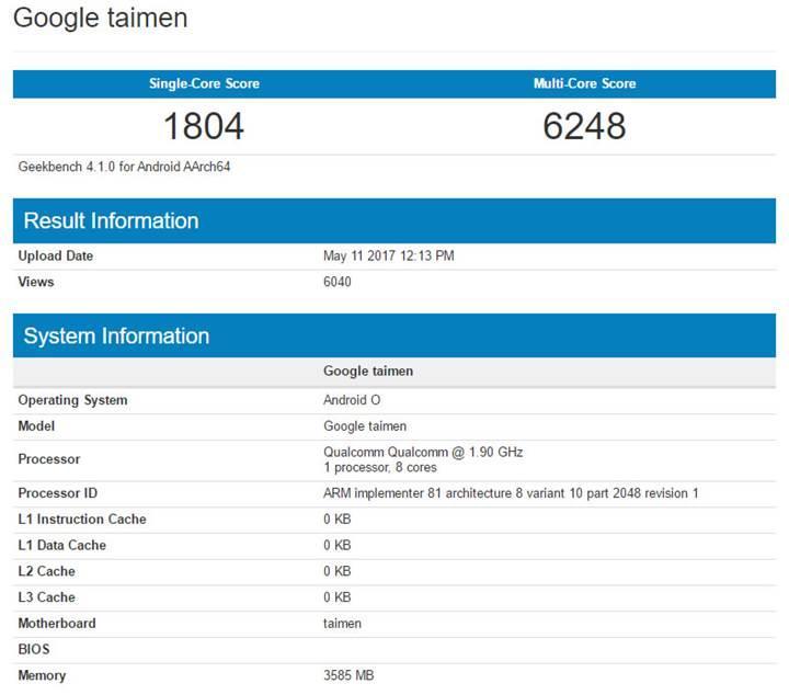 Google Pixel 2'nin performansı Galaxy S8 ve Xperia XZ Premium'a kafa tutacak