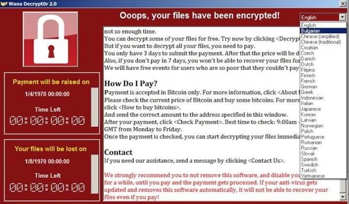 Tarihin en büyük ransomware saldırılarından birisi şu an gerçekleşiyor