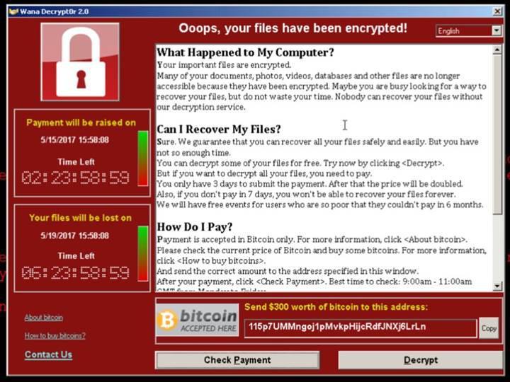 McAfee: WannaCry saldırısı yeni ve tehlikeli bir model yarattı