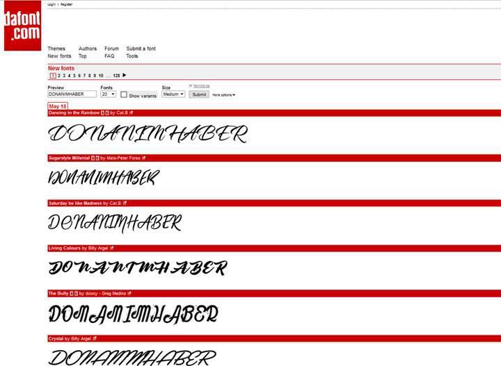 Popüler font indirme sitesi DaFont hacklendi