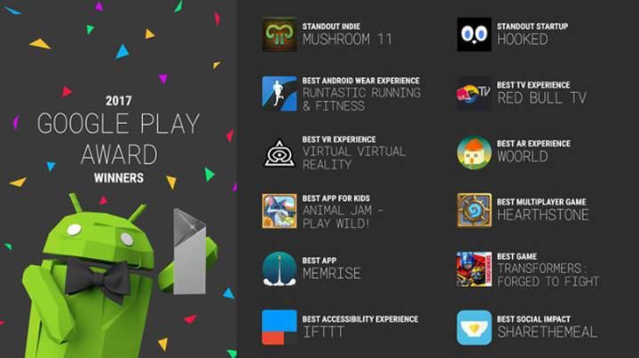 Google Play 2017 ödülleri belli oldu
