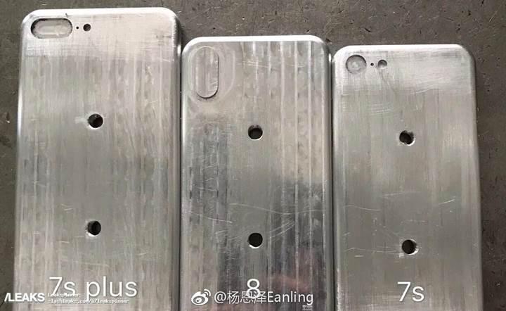 iPhone 8, iPhone 7s ve iPhone 7s Plus'ın kalıpları ortaya çıktı