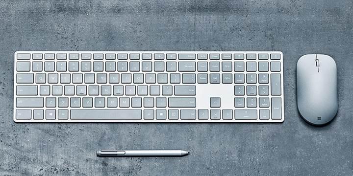 Microsoft dahili parmak izi okuyuculu klavye üzerinde çalışıyor