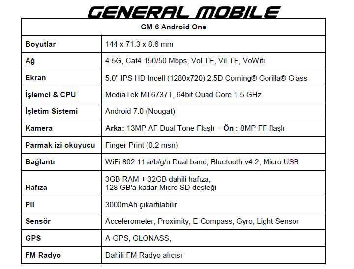 General Mobile GM 6, 26 Mayıs'ta satışa sunuluyor