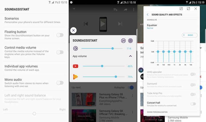 Samsung'dan Galaxy serisine özel müthiş ses uygulaması: SoundAssistant