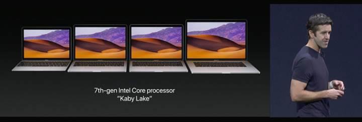 Apple, MacBook serisini Intel Kaby Lake işlemcilerle güncelledi