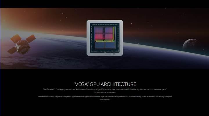 AMD Radeon Pro Vega resmiyet kazandı