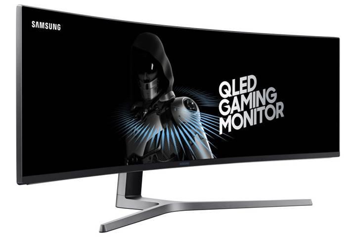 Samsung'dan oyunculara ultra geniş QLED kavisli monitör